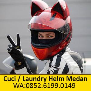 Tempat Cuci Helm murah di Medan